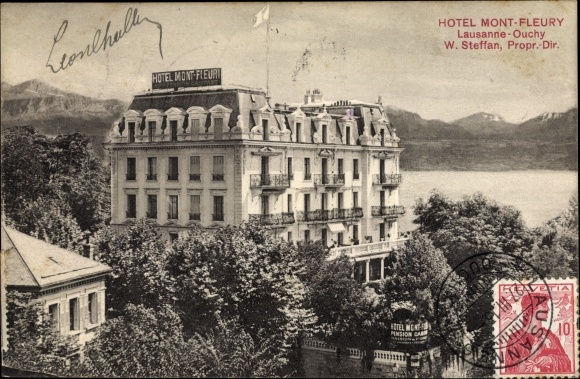 Ak Ouchy Lausanne Kanton Waadt, Hotel Mont Fleury 0