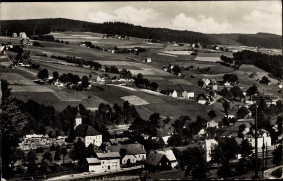 Ak Rittersgrün Breitenbrunn im Erzgebirge, Luftbild vom Ort 0