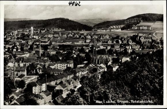 Ak Aue im Erzgebirge Sachsen, Panorama 0