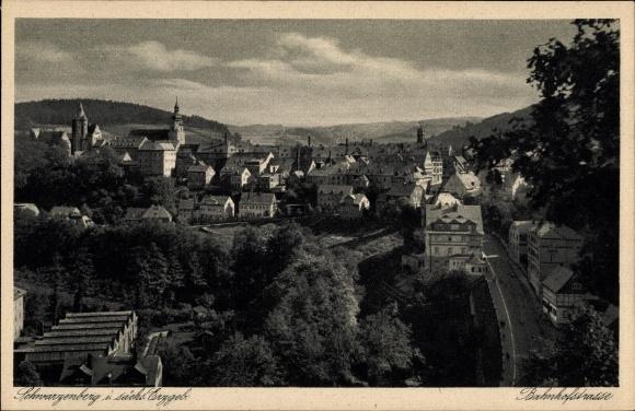 Ak Schwarzenberg im Erzgebirge Sachsen, Bahnhofstraße 0