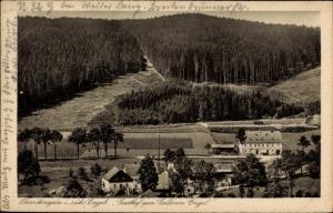 Ak Oberrittersgrün Breitenbrunn Sächsisches Erzgebirge, Gasthof zum Goldenen Engel