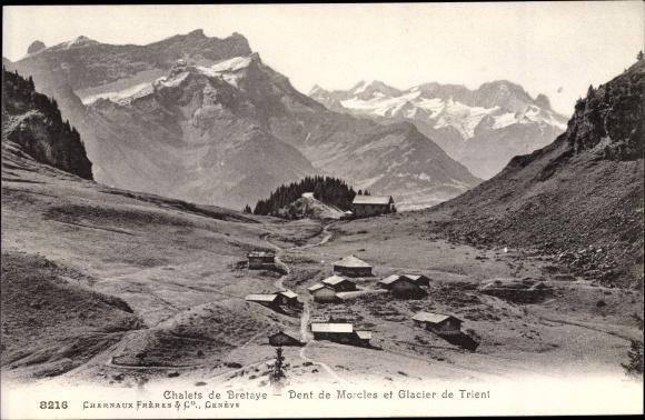 Ak Trient Martigny Kanton Wallis, Chalets de Bretaye, Dent de Morcles et Glacier 0