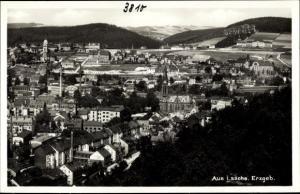 Ak Aue im Erzgebirge Sachsen, Panorama vom Ort