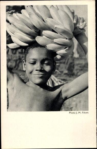 Ak Junge tanzt mit Bananen 0