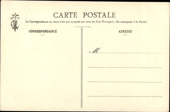 Lied Ak Les Chansons de Botrel, La Paimpolaise, Seemann mit Familie, Überflutung 1