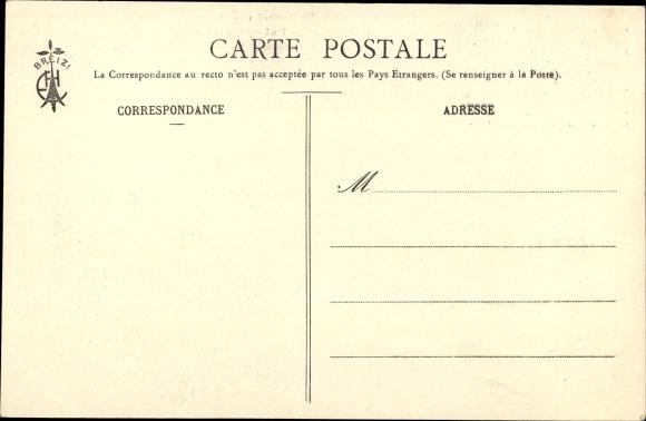 Lied Ak Les Chansons de Botrel, La Paimpolaise, Frau in Tracht, Matrosen mit Fernglas 1