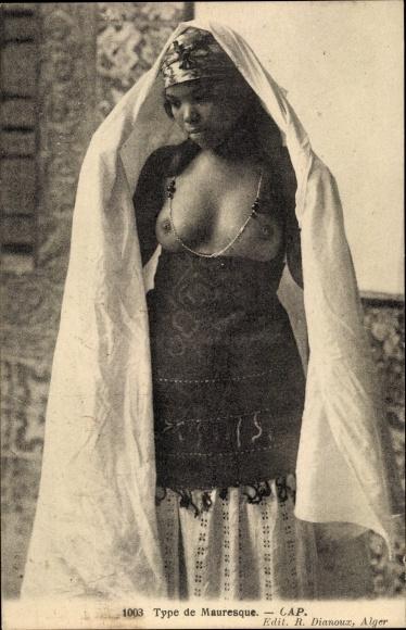 Ak Type de Mauresque, Portrait, Maghreb 0