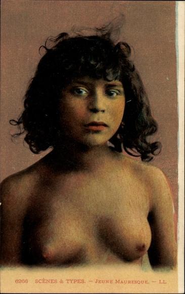 Ak Jeune Mauresque, Portrait, Maghreb 0