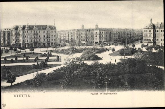 Ak Szczecin Stettin Pommern, Kaiser Wilhelmplatz 0