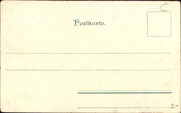 Studentika Litho Musterung im Kaiserreich, Studenten, Appell 1
