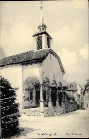 Ak Saint Gingolph Kanton Wallis Schweiz, Chapelle Suisse 0
