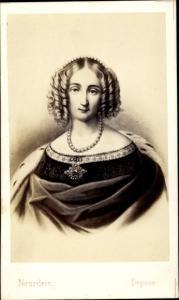 Carte de Visite Louise d'Orleans, Prinzessin von Bourbon und Neapel-Sizilien, Königin von Belgien