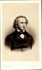 Carte de Visite Komponist Felix Mendelssohn Bartholdy