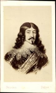 Carte de Visite König Ludwig XIII. von Frankreich