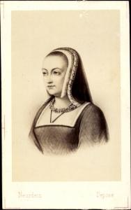 Carte de Visite Anne de Bretagne, Femme de Charles VIII, 1498