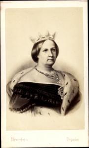 Carte de Visite Amélie von Leuchtenberg, Frau von König Peter I. von Portugal,Kaiserin von Brasilien