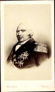 Carte de Visite König Ludwig XVIII. von Frankreich