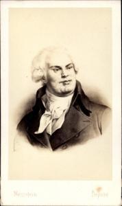 Carte de Visite Georges Darton, Justizminister in der Ersten Französischen Republik