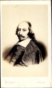 Carte de Visite Kardinal Jules Mazarin, Giulio Mazarini