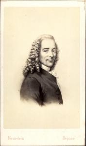 Carte de Visite Philospoh und Schriftsteller Voltaire