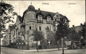 Ak Kołobrzeg Kolberg Pommern, Parkhotel