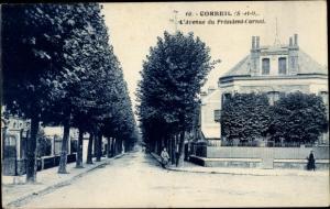 Ak Corbeil Essonne, Avenue du Président Carnot