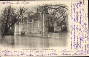 Passepartout Ak Marcilly-en-Villette Loiret, Chateau du Bruel