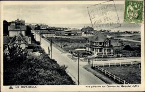 Ak Riva Bella Calvados, Vue Générale Avenue Maréchal Joffre