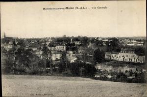 Ak Montfaucon sur Moine Maine et Loire, Vue generale