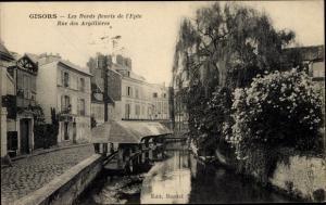 Ak Gisors Eure, Bords fleuris de l´Epte, Rue des Argilllières