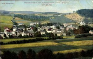 Ak Obersachsenfeld Schwarzenberg, Totalansicht vom Ort