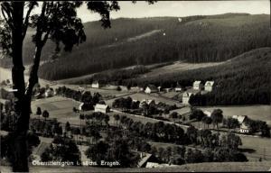 Ak Oberrittersgrün Breitenbrunn, Ortschaft und Umgebung