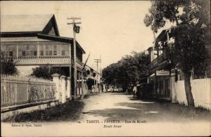 Ak Papeete Tahiti Ozeanien, Rue de Rivoli