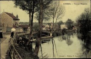Ak Corbeil Essonne, Vue sur l´Essonne