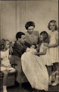 Ak Erbprinz Gustaf Adolf von Schweden, Sibylla, Prinz Carl Gustaf, Margaretha, Brigitta, Desirée