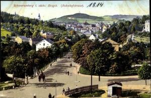 Ak Neuwelt Schwarzenberg im Erzgebirge Sachsen, Bahnhofstraße