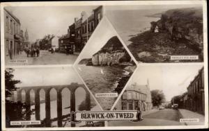 Ak Berwick on Tweed, High Street, Murphy´s Rock, Royal Border Bridge