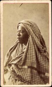 CdV Algerien, Frau in Maghreb Tracht, Portrait, um 1880