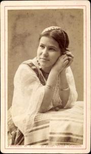 CdV Algerien, Frau in Maghreb Tracht, Portrait um 1880, Famin & Compagnie