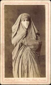 CdV Algerien, Frau in Maghreb Tracht, Portrait um 1880, Famin et Compagnie
