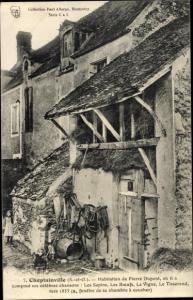 Ak Cheptainville Essonne, Habitation de Pierre Dupont, Compositeur