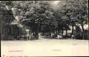 Ak Dordrecht Südholland Niederlande, Stationsweg