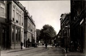 Ak Dordrecht Südholland Niederlande, Visstraat-Bagijnhof omstreeks 1905