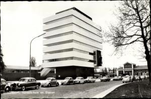 Ak Dordrecht Südholland Niederlande, Tomado-huis en Station