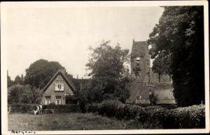 Ak Norg Drenthe, Haus, Kirche, Kuh