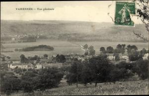 Ak Varennes sur Seine Seine et Marne, Vue générale