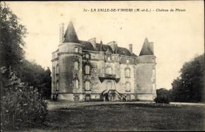 Ak Vihiers Maine et Loire, Chateau de Plessis