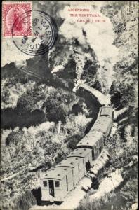 Ak Neuseeland, Ascending the Rimutaka, Eisenbahn, Dampflok