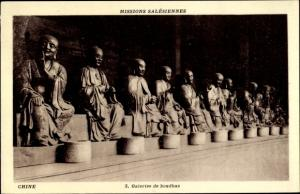 Ak China, Missions Salesiennes, Galeries de boudhas