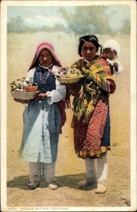 Ak Pueblo Pottery Vendors, Indians